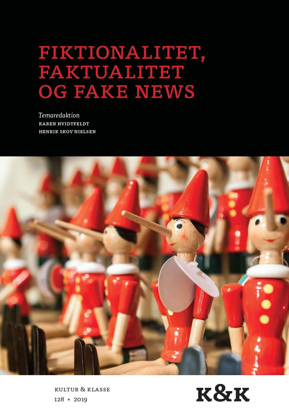 """Forside af bogen """"Fiktionalitet, faktualitet og fake news"""""""