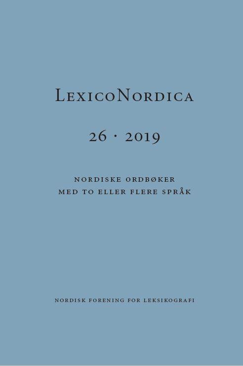 Se Nr. 26 (2019): Nordiske ordbøker med to eller flere språk