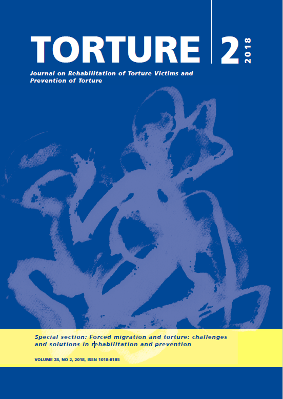 Torture Journal Issue 2018-2 published by the International Rehabilitation Council for Torture Victims. Special section: Forced migration and torture: challenges and solutions in rehabilitation and prevention
