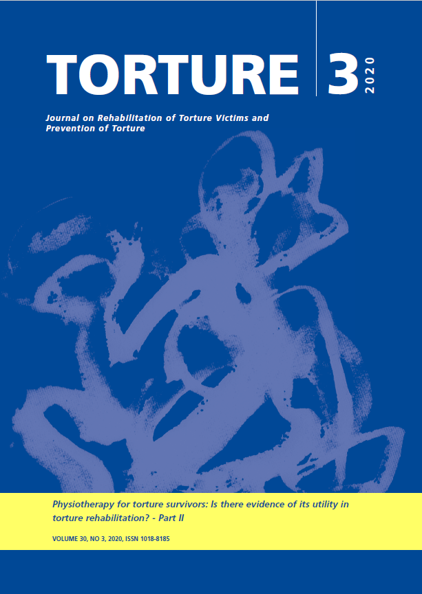 View Vol. 30 No. 3 (2020): Journal on Rehabilitation of Torture Victims and Prevention of Torture