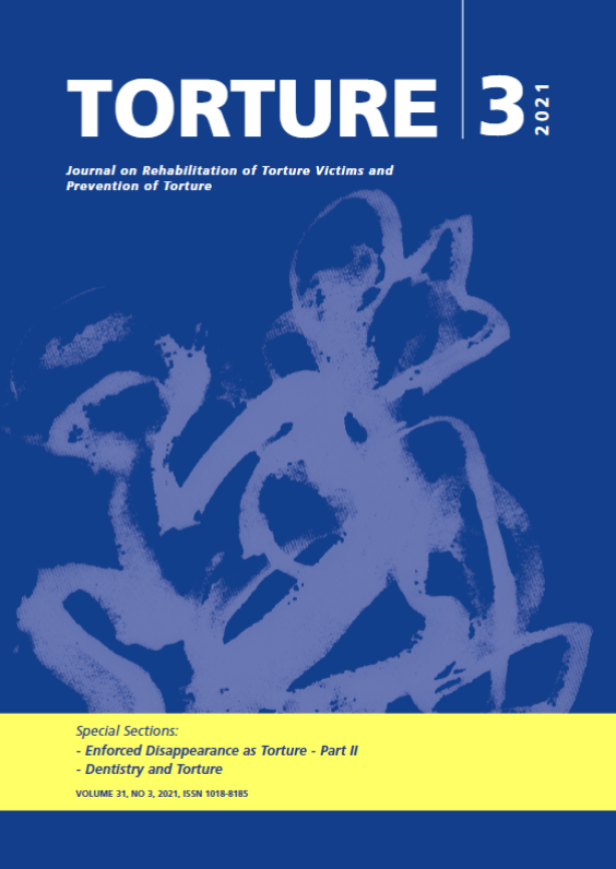 View Vol. 31 No. 2 (2021): Torture Journal: Journal on Rehabilitation of Torture Victims and Prevention of Torture