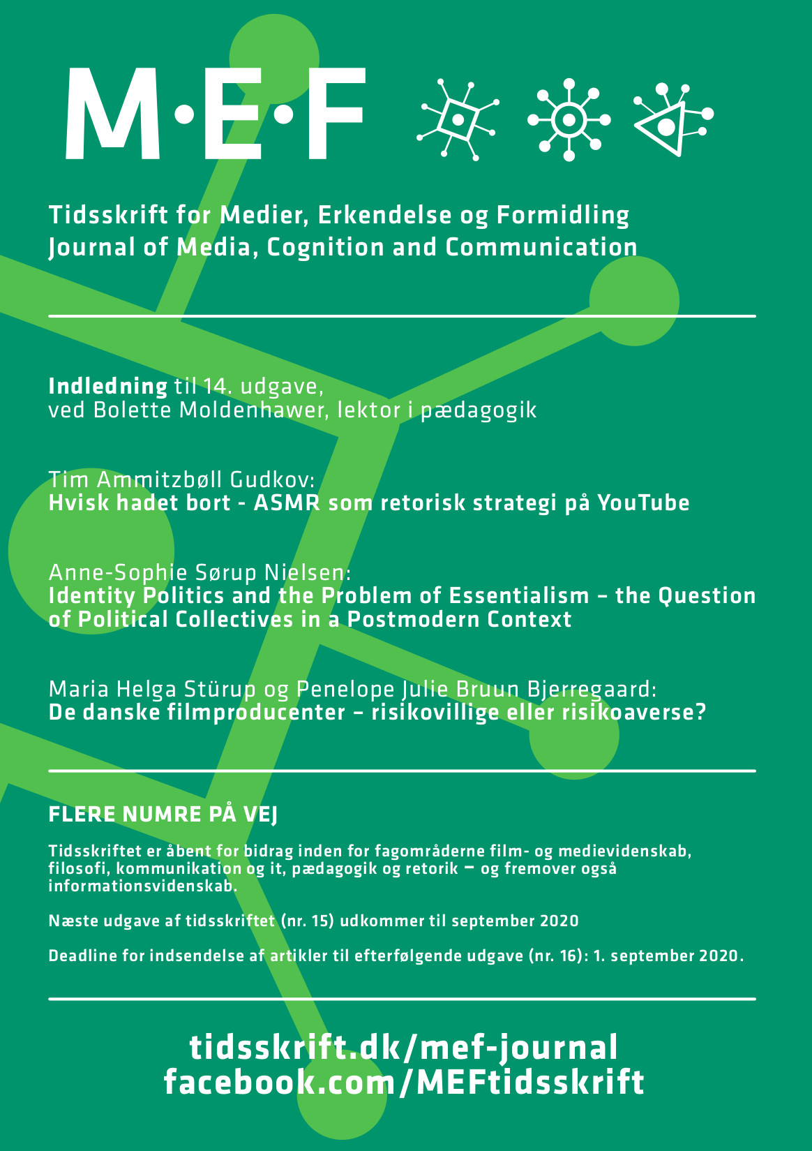 Se Årg. 8 Nr. 1 (2020): Tidsskrift for Medier, Erkendelse og Formidling, no. 14