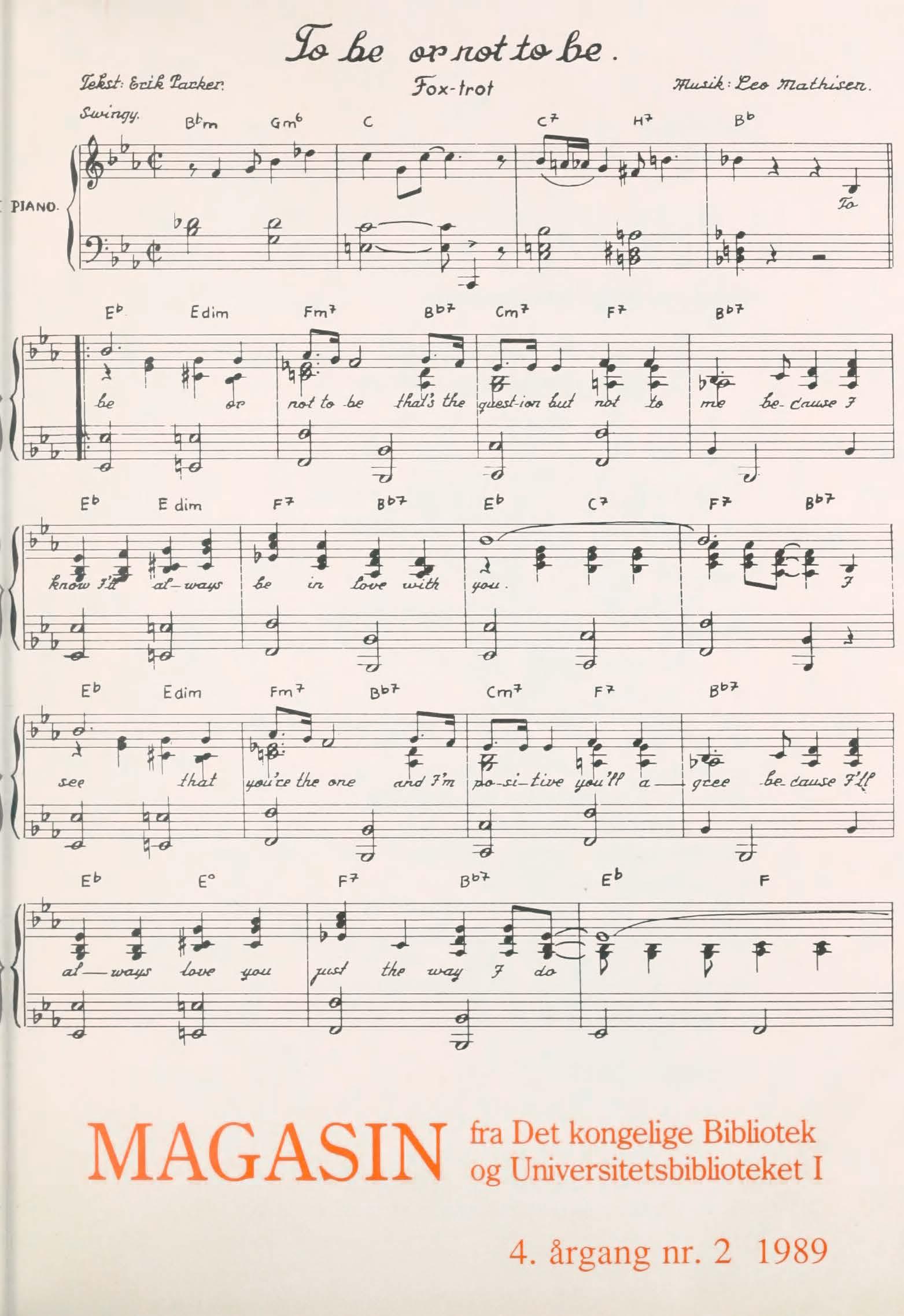 Se Årg. 4 Nr. 2 (1989)