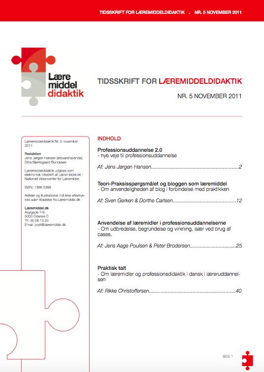 Se Årg. 4 Nr. 1 (2011): Læremiddeldidaktik 5
