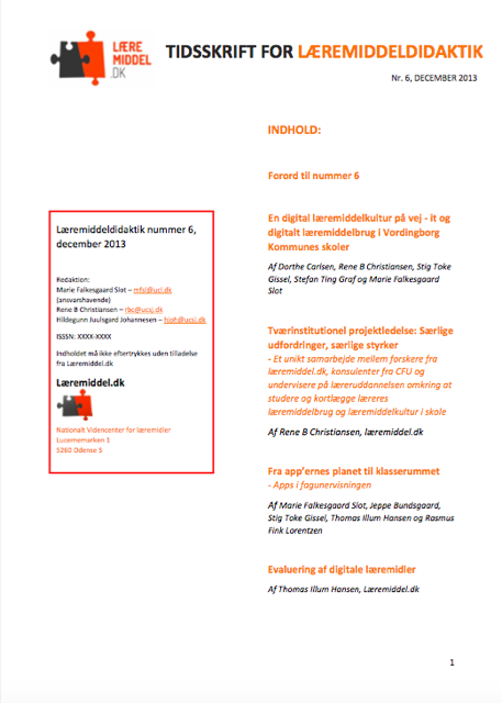 Se Årg. 6 Nr. 1 (2013): Læremiddeldidaktik 6