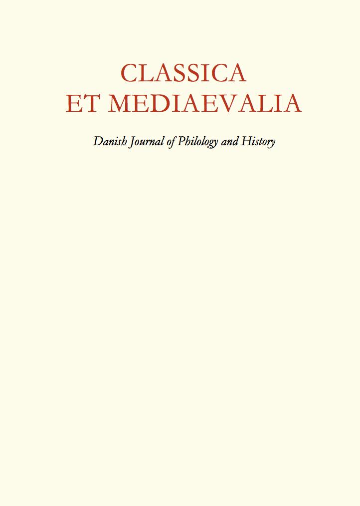 View Vol. 67 (2019): Classica et Mediaevalia