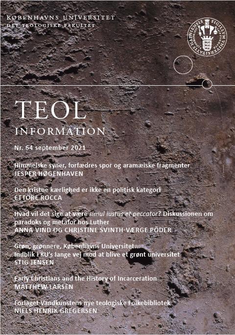 Se Nr. 64 (2021):  TEOL-information nr. 64 september 2021