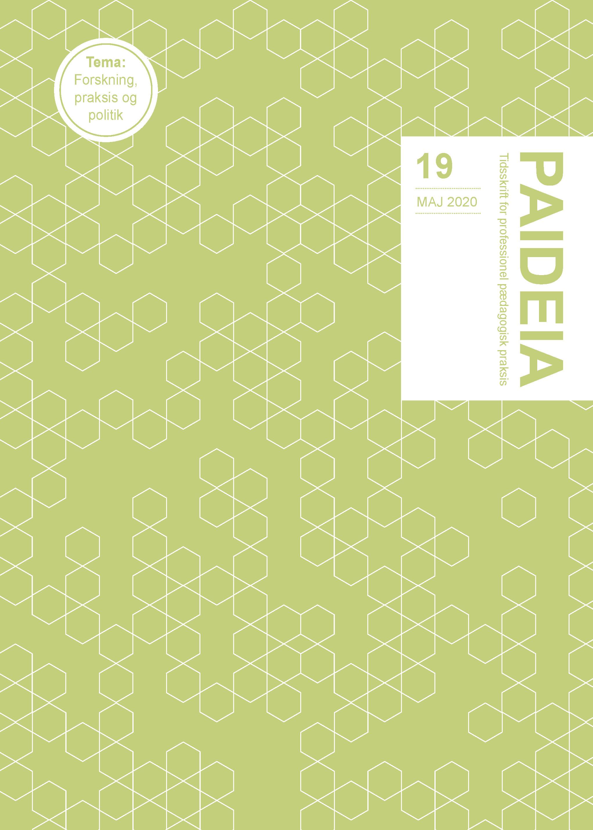 Se Nr. 19 (2020): Paideia - Tidsskrift for professionel pædagogisk praksis
