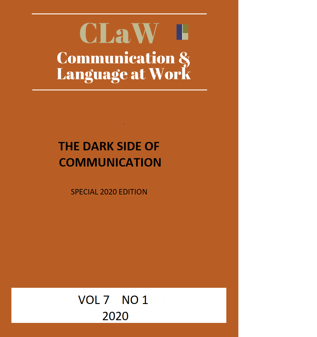 View Vol. 7 No. 1 (2020): The Dark Side of Communication